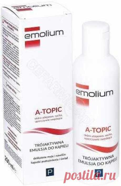 EMOLIUM A-Topic Three-active bath emulsion 200ml EMOLIUM A-Topic three-active bath emulsion UK is a dermocosmetic that lubricates the skin and soothes itching.