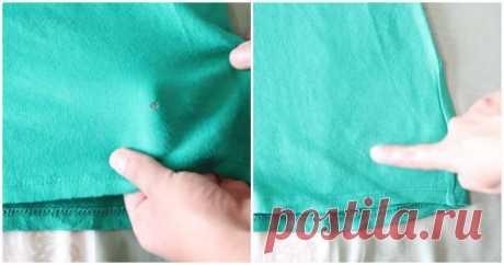 Как зашить дырку на одежде, не используя иголку и нитку / Домоседы