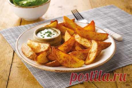Идеальный картофель по-деревенски с пикантным соусом