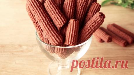 Шоколадные палочки: нежное домашнее печенье со сливочным вкусом   Кухня от Татьяны   Яндекс Дзен