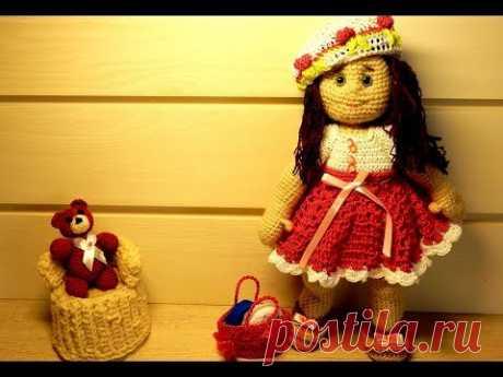 1 Вязание крючком вязаная кукла игрушки амигуруми
