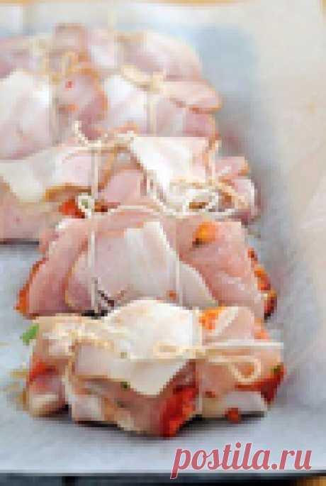Куриные рулеты с начинкой из цветной капусты.