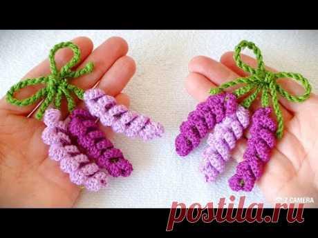 Görünce hayran kalacağınız lavanta çiçeği örgü modeli crochet flomer