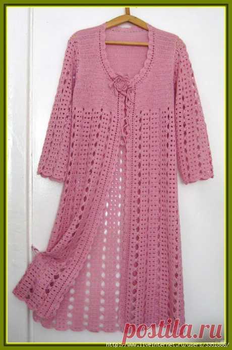 Irish crochet &: Кардиган ажурный