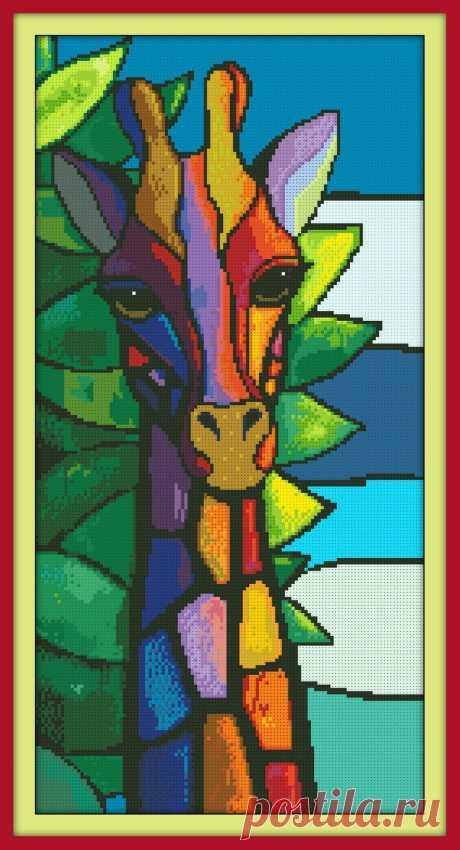 Mandala Mosaic Modern Giraffe Cross Stitch Pattern PDF | Etsy