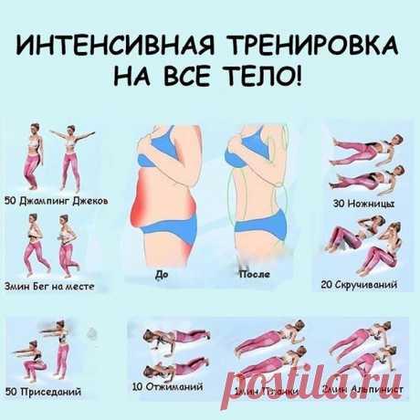 Интенсивная тренировка на все тело — Полезные советы