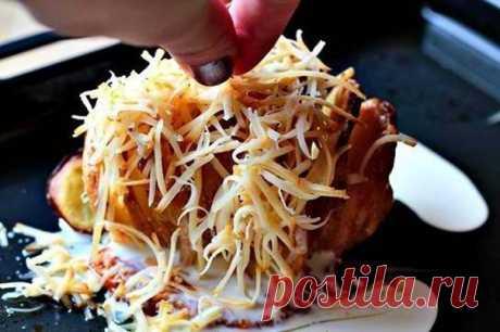 Как приготовить запеченый картофель с сыром. - рецепт, ингредиенты и фотографии