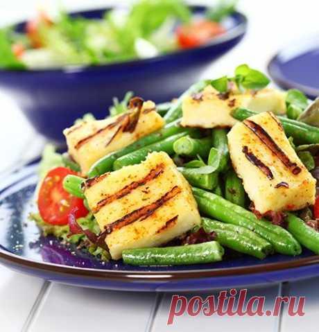 Салат с фасолью и сыром на гриле / Взлом логики