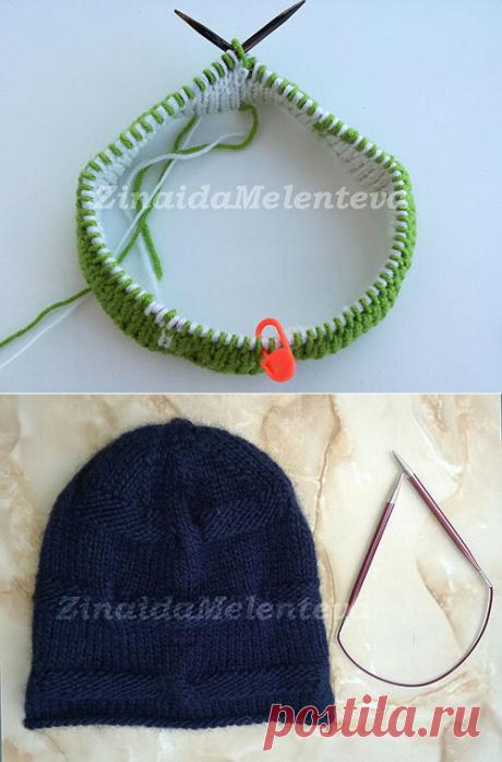 1000 идей для вязания спицами: Простой способ расчёта петель и рядов для вязания шапки на круговых спицах