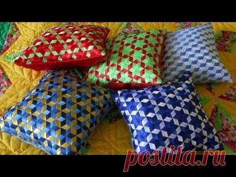 (2) Плетение из лент для декоративной подушки - YouTube