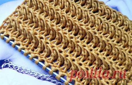 Рельефный узор спицами. 💥 | Asha. Вязание и дизайн.🌶 | Яндекс Дзен