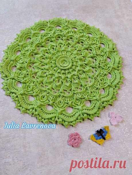 Рельефная салфетка нежного салатового цвета станет приятным подарком ко дню рождения,  прпзднику или юбилею