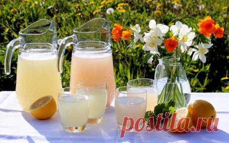 Квас лимонный и клубничный