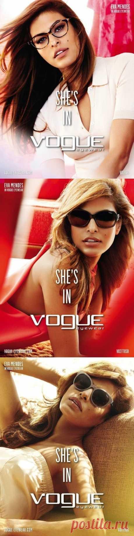 Рекламная кампания Vogue Eyewear Весна-лето 2013