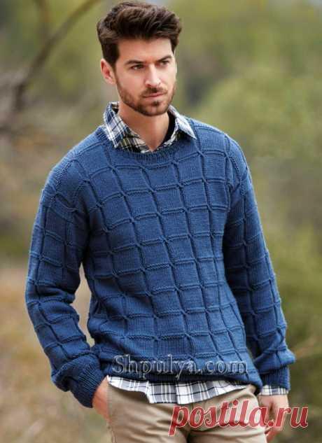Мужской пуловер с «Косами» - SHPULYA.com