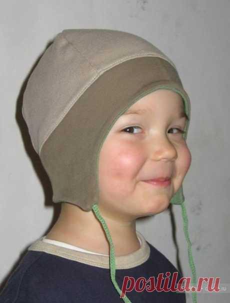 Выкройка детской трикотажной шапочки с ушками / Шитье, вязание для детей на спицах и крючком с описанием / КлуКлу. Рукоделие - бисероплетение, квиллинг, вышивка крестом, вязание