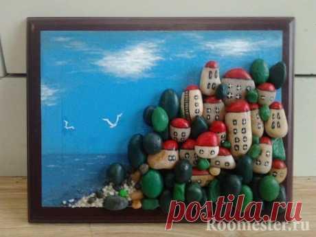 Оригинальные композиции из камушков с росписью — Сделай сам, идеи для творчества - DIY Ideas