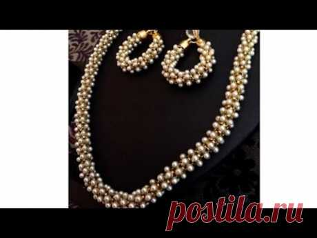 DIY tutorials|how to make silk thread jewellery  with pearl chain at home