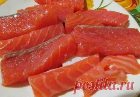Засолка форели (лосося, семги, кижуча) необычным способом - получается сочно и очень вкусно | Рекомендательная система Пульс Mail.ru