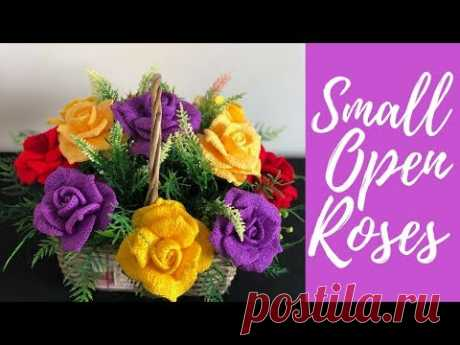 Как вязать крючком маленькие открытые розы