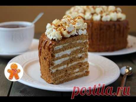 """Торт """"Карамельная Девочка"""" ✧ Caramel Cake (English Subtitles)"""