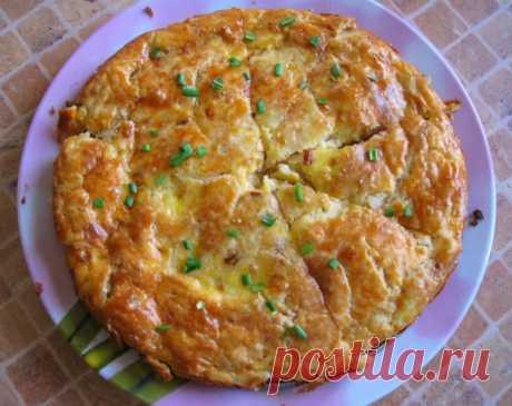 Закусочный пирог с плавленным сырком — Sloosh – кулинарные рецепты