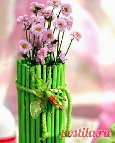 Декор вазы своими руками