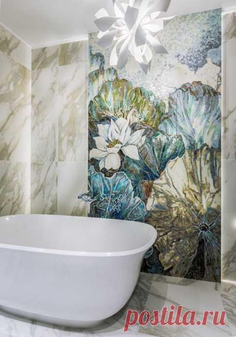 Интерьер: уютная квартира с весенним настроением и шикарной ванной комнатой | Уютная Квартира | Яндекс Дзен