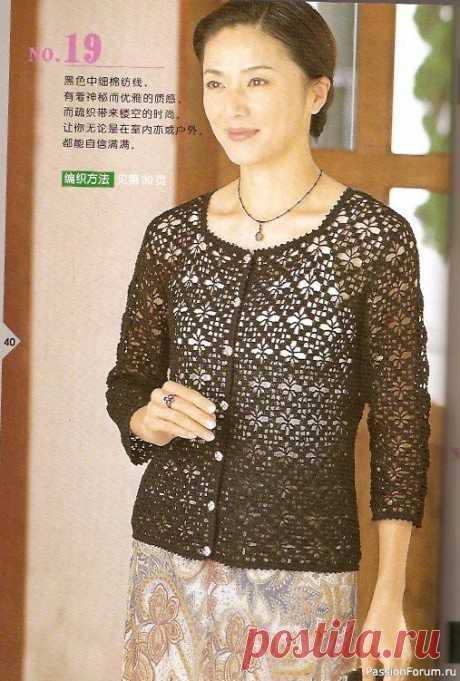 Жилет - кардиган | Женская одежда крючком. Схемы и описание