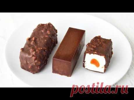 Творожные СЫРКИ в шоколадной ГЛАЗУРИ ☆ С НАЧИНКОЙ