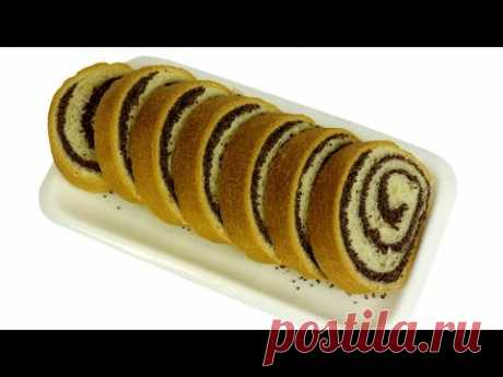 Roll with poppy. Step-by-step recipe of ideal poppy roll. - YouTube