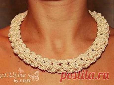 Изготовление ожерелья Pearl passion   Журнал Ярмарки Мастеров