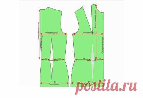 Готовые выкройки – базовая основа размеры 60 — 68 (Шитье и крой)