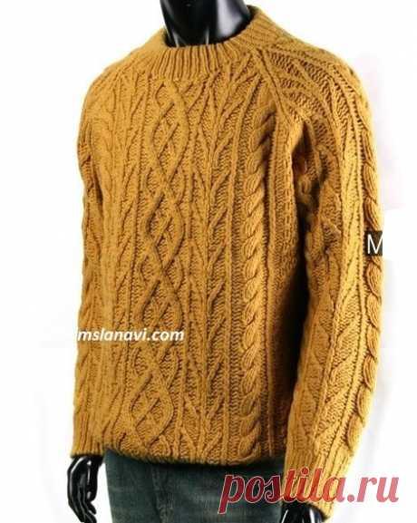 Запись на стене Мужской пуловер , схема по ссылке