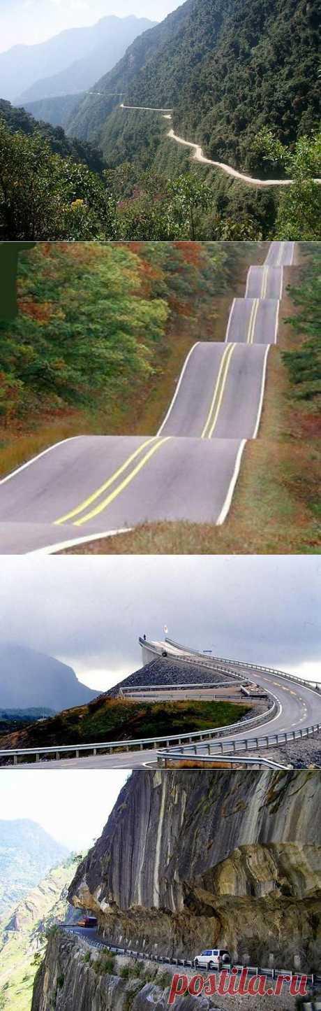 Самые опасные дороги мира / Всё самое лучшее из интернета