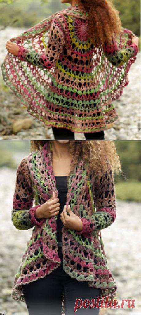 Tina's handicraft : long sleeve circular bolero