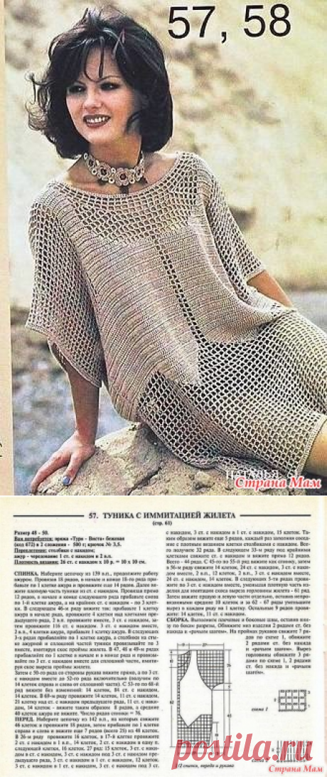 I liked this tunichka - KNITTED MODA+ FOR NOT MODEL LADIES - the Country of Mothers