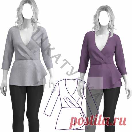 Выкройка трикотажной блузки WT170120   Шкатулка