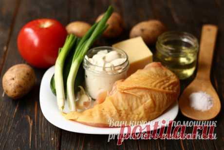 """Салат """"Муравейник"""" с курицей и картофельной соломкой: пошаговый рецепт"""