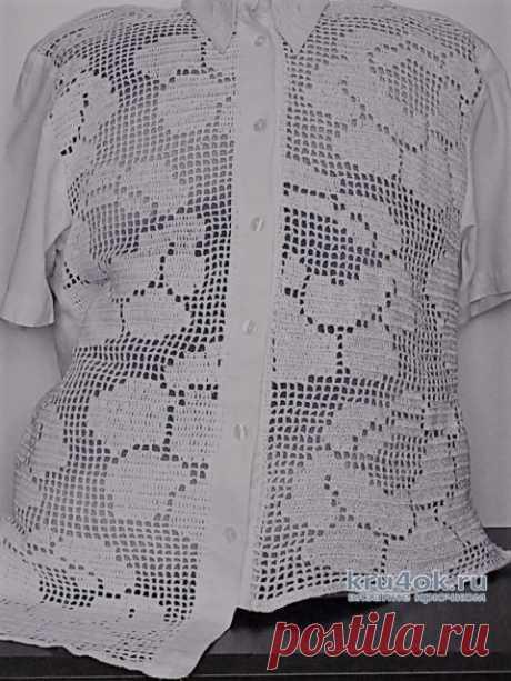Комбинированная блузка (переделка старой вещи). Работа Аллы