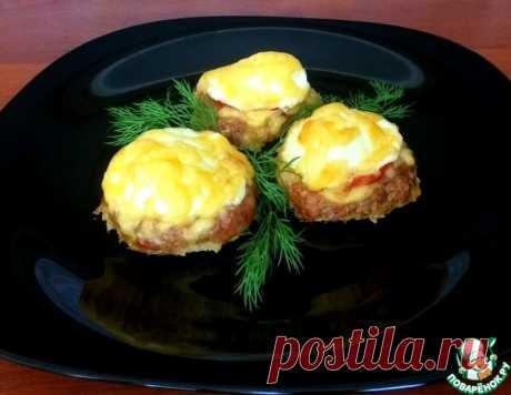 Мясные гнезда с яйцом и помидором – кулинарный рецепт