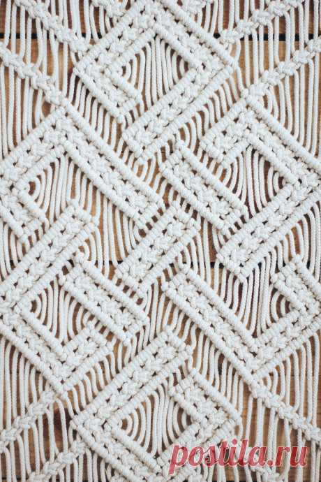 Modern macrame textile wall hanging weaving wall hanging | Etsy