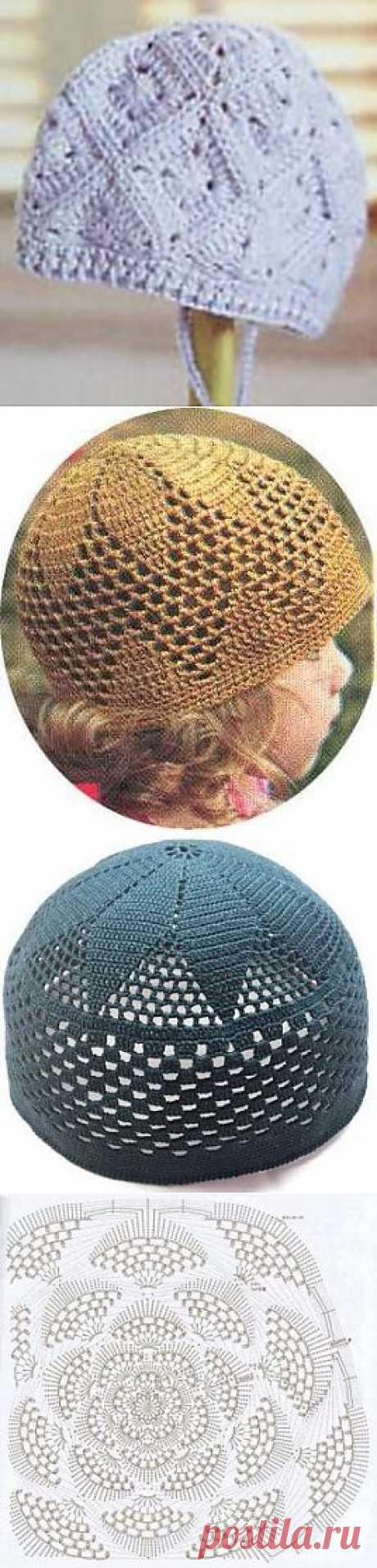 Шапки 15 штук | Вязание крючком