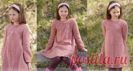 Вязаное платье для девочки Woodland Fairy - Хитсовет