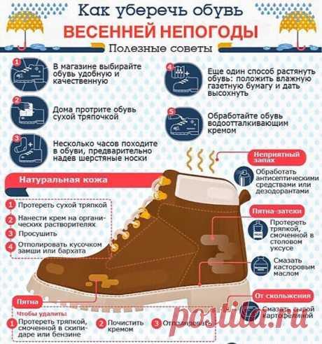 Как уберечь обувь от непогоды — Полезные советы