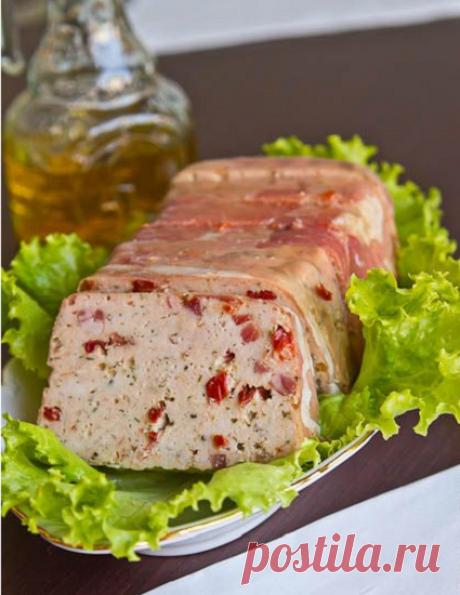 Блюдо выходного дня - куриный террин   Вкусные рецепты   Яндекс Дзен