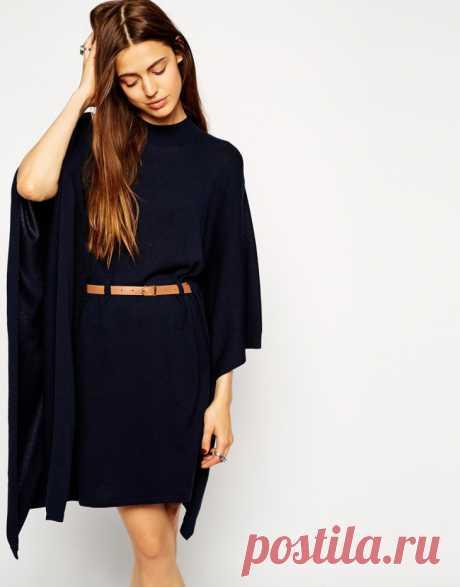 Платье - кейп с поясом (выкройка) Модная одежда и дизайн интерьера своими руками