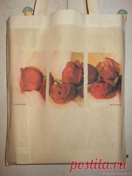 Экосумка с букетом роз