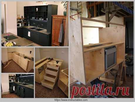 Как просто сделать уникальную кухонную мебель своими руками — Идеи домашнего мастера