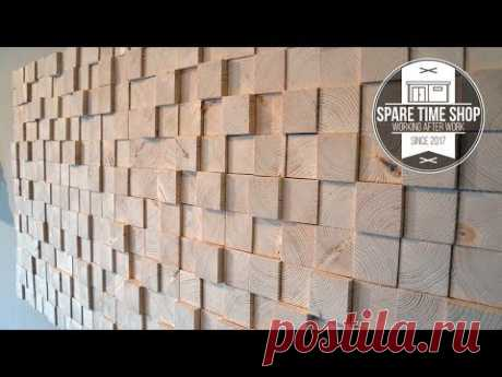 Too Many Blocks / DIY Wall Decoration from Wood - YouTube